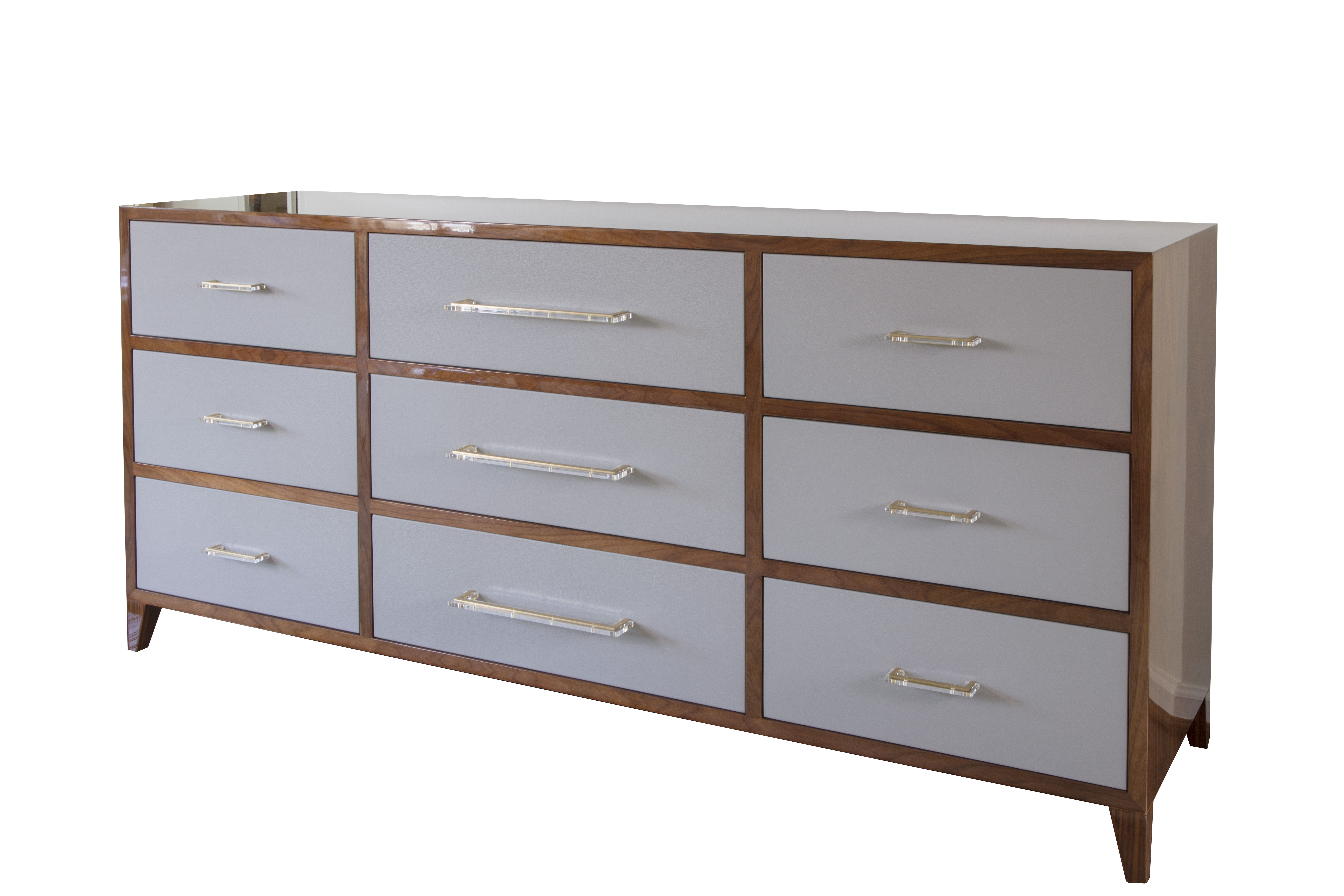 Leather Front Dresser With Media Compartment By Paula Grace Designs Signature Grace Contemporary Dresser Design Dresser Design Contemporary Dresser [ 5461 x 8192 Pixel ]