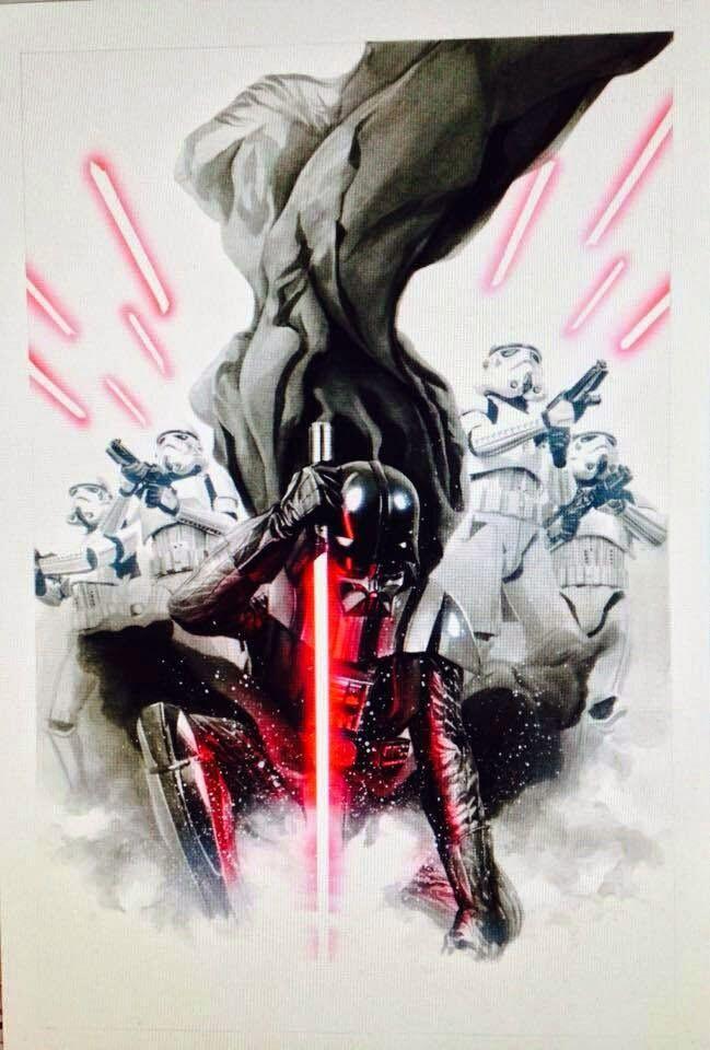 Darth Vader Leading The 501st Legion By Alex Ross Starwars Star Wars Comics Star Wars Art Star Wars Artwork