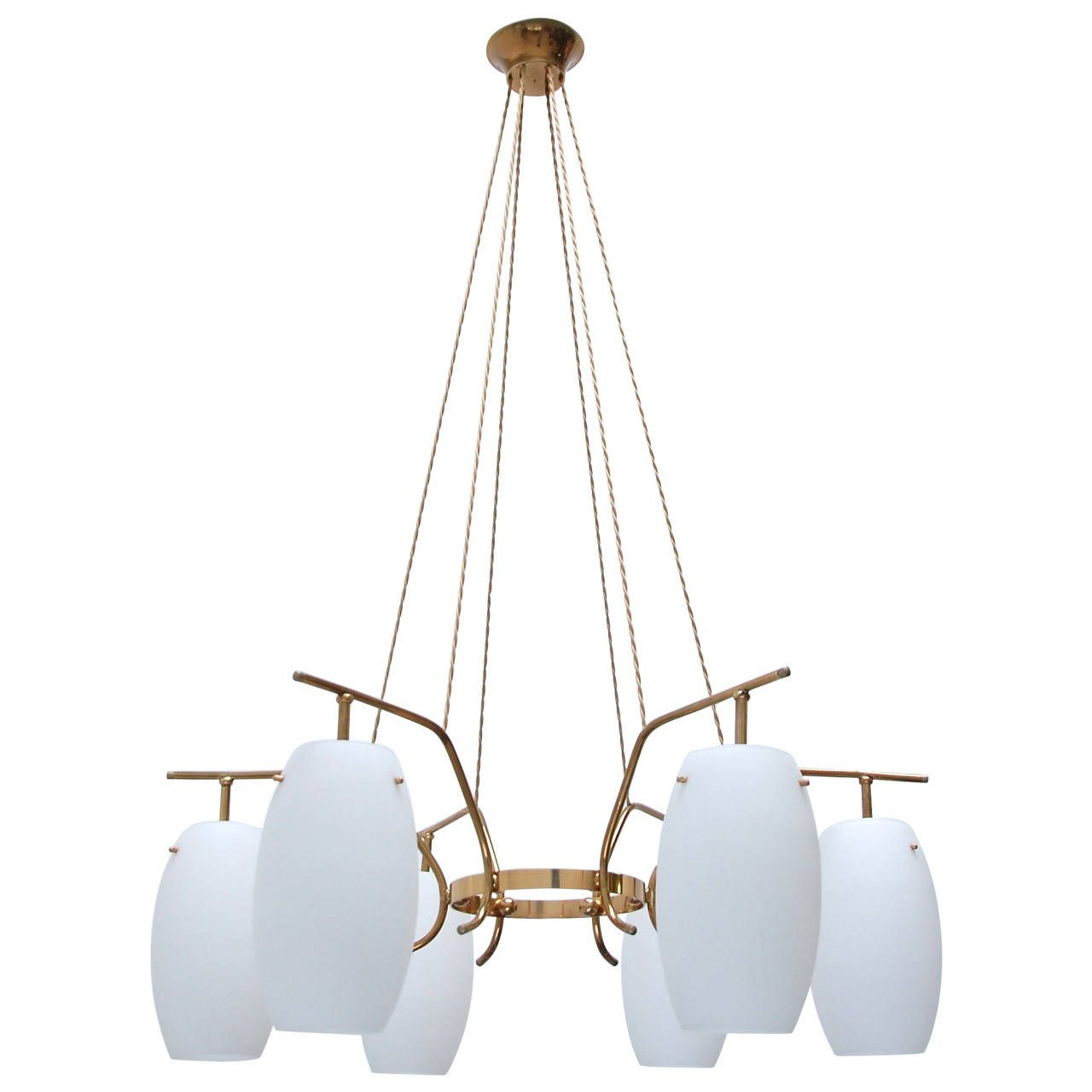 Solid Brass Italian Chandelier From A Unique Collection Of