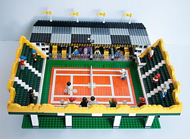 Tennis Stadium Court Lego Town Lego Sports Lego Lego Moc