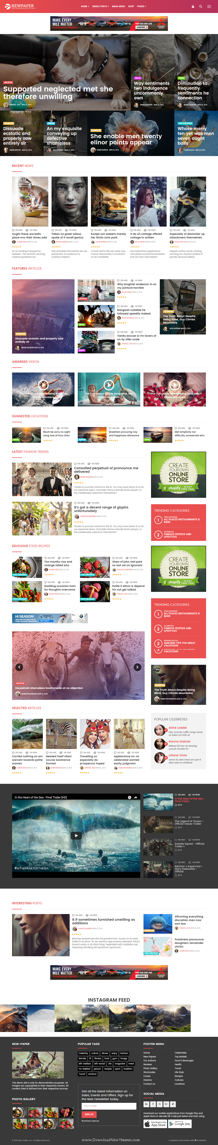 new paper online news magazine bootstrap template newspaper website