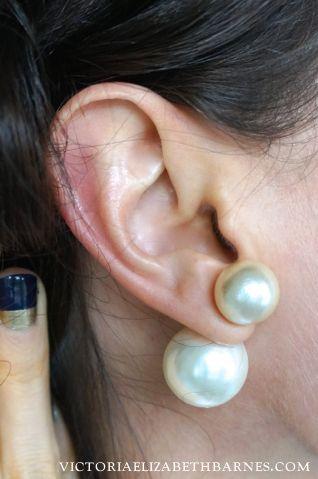 DIY double pearl earrings… Dior knockoff and other giant pearl jewelry!