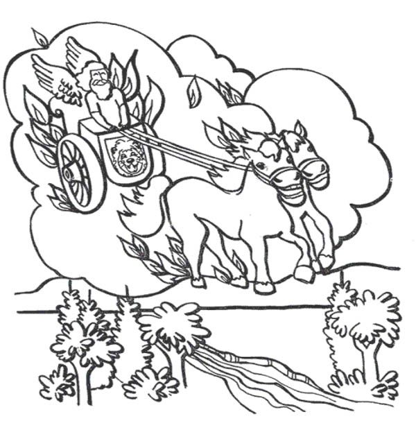 Elijah Chariot Of Fire Prophet Elijah Coloring Pages Chariot Of