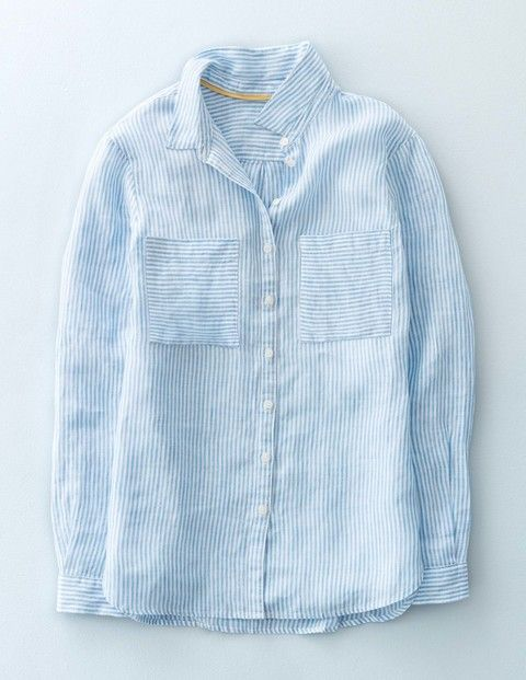 161ae694b42 The Linen Shirt WA689 Long Sleeved Tops at Boden