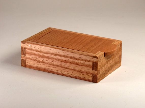 Cherry Wood Wavy Maple Wood Oak Wood Jewelry Box by JMCraftworks