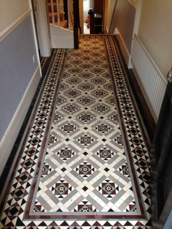 Victorian Tiled Hall Restoration Hallway Flooring Victorian Hallway Tiles Hall Tiles