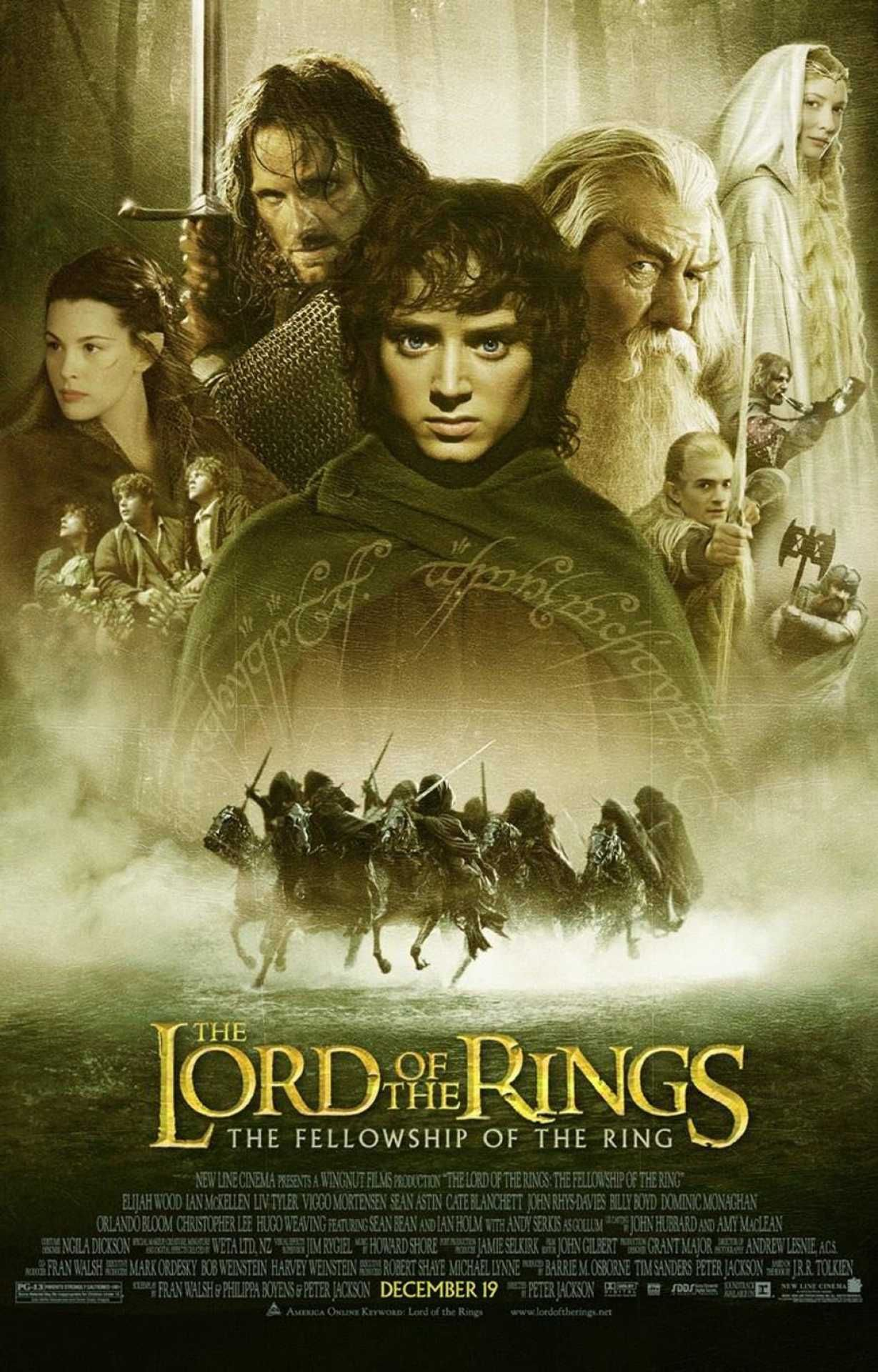 The Lord Of The Rings Fellowship Of The Ring Movie Poster 2001