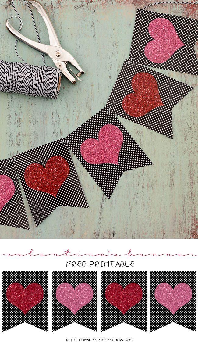 Free Printable Valentineu0027s Banner Free Printable Valentineu0027s