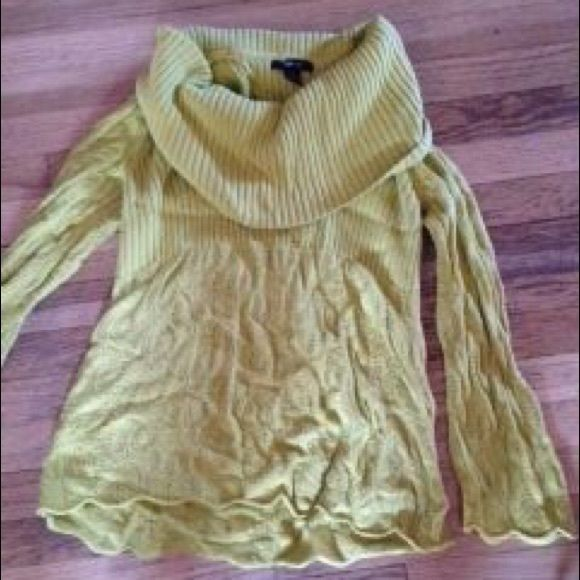 Green tunic sweater size large Sz large. Fit me at xl too. Funky ...