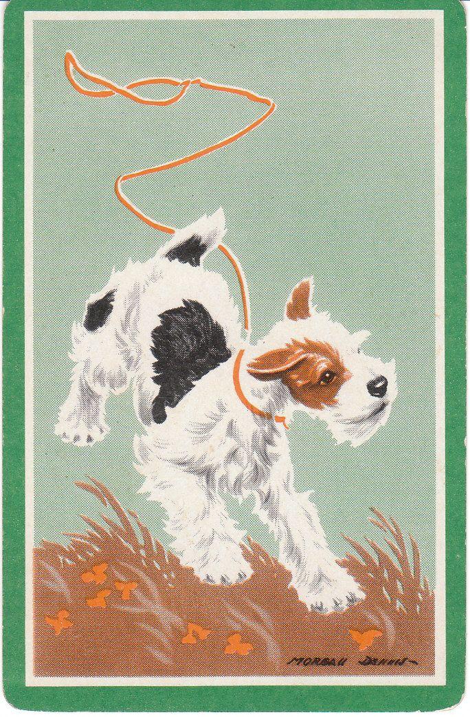 Vintage Dog Trading Card