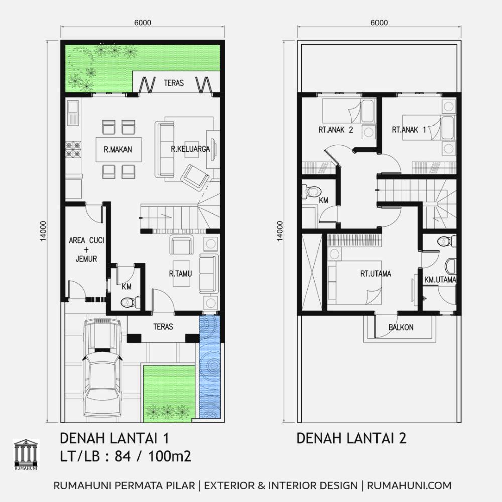Denah Rumah Minimalis 80 100m2 Virtual Office Floor Plans Bamboo Diy