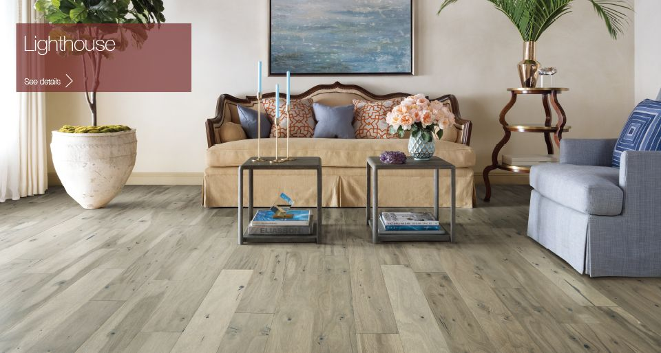 This Whitewashed Acacia Hardwood Floor Is Complete With Lots Of