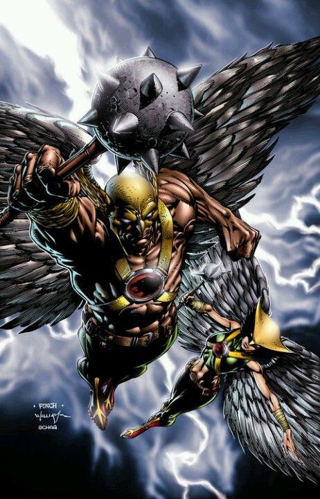 Hawkman And Hawkgirl By David Finch Hawkman Hawkgirl Davidfinch Dc Comics Art Superhero Comic Comics