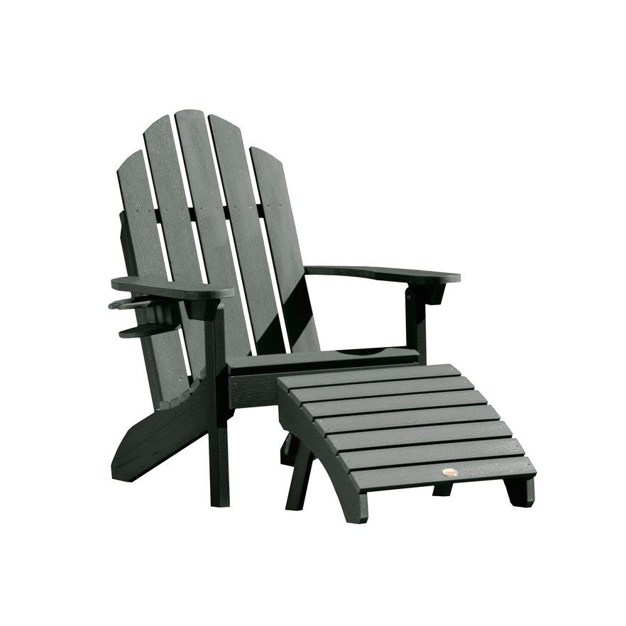 Magnificent Highwood Westport Adirondack Chair Folding Ottoman Green Machost Co Dining Chair Design Ideas Machostcouk