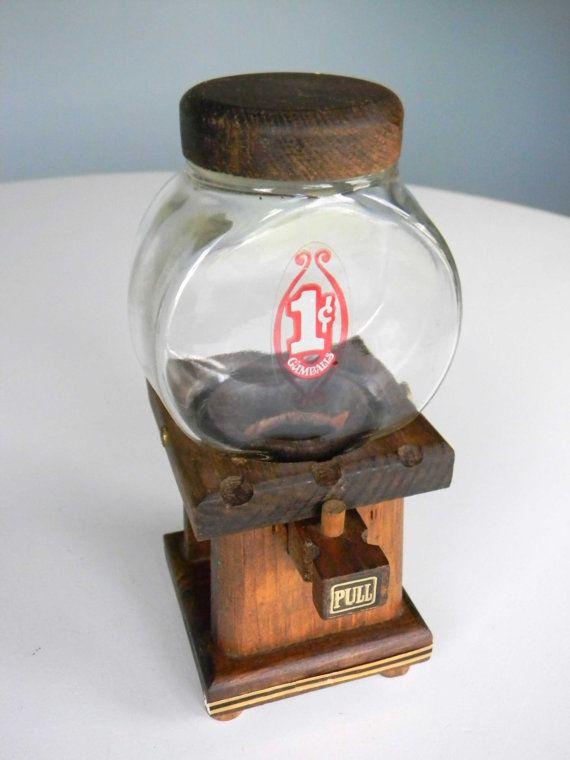 Vintage Gumball Machine Bubble Gum