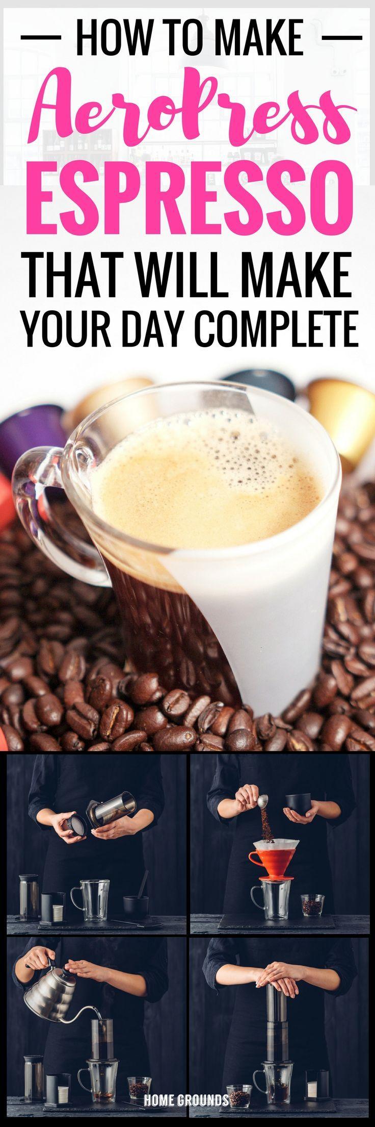 This Aeropress Espresso Recipe Really Works If You Do This Coffee Drink Recipes Espresso Recipes Coffee Recipes