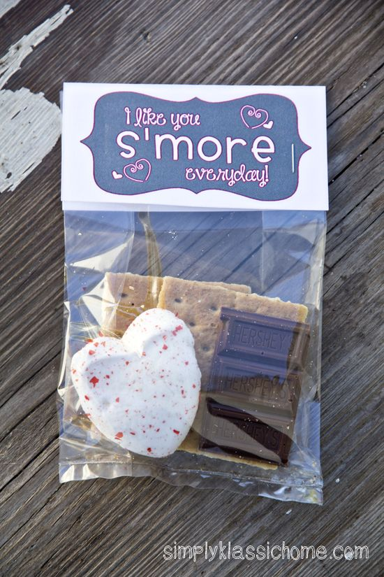 S'mores Valentine Treat & Free Printable | Great Dessert ...