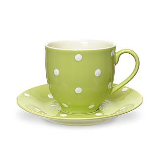 Set of 4 Spode® Baking Days Green Tea Cups and Saucers Boston Store ...