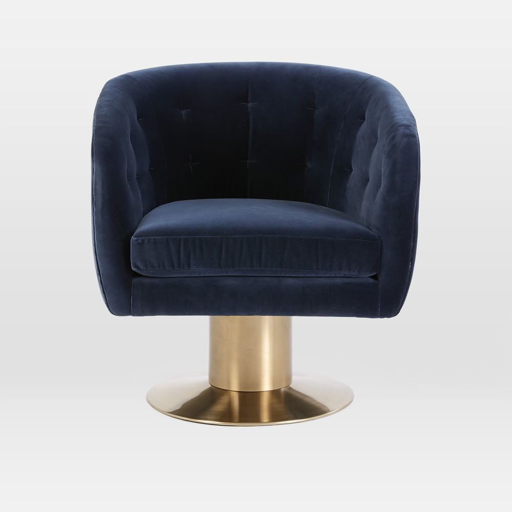 Pedestal Chair Tufted Pedestal Swivel Chair Mad About Mod Pinterest Swivel
