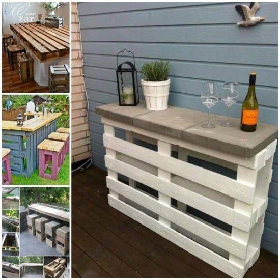25 Dazzling Diy Patio Decoration Ideas To Create Your Getaway Spot Pallet Bar Diy Pallet Diy Diy Pallet Furniture