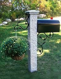 Granite Mailbox Lightposts Drywall Masonry Supplies Dms Fireplace Shop Mailbox Makeover Mailbox Landscaping Landscape Design Diy