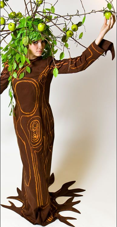 All adult tree costume with stilts sorry