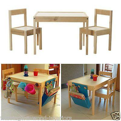 Ikea Latt Wooden Childrens Table Chairs Customize