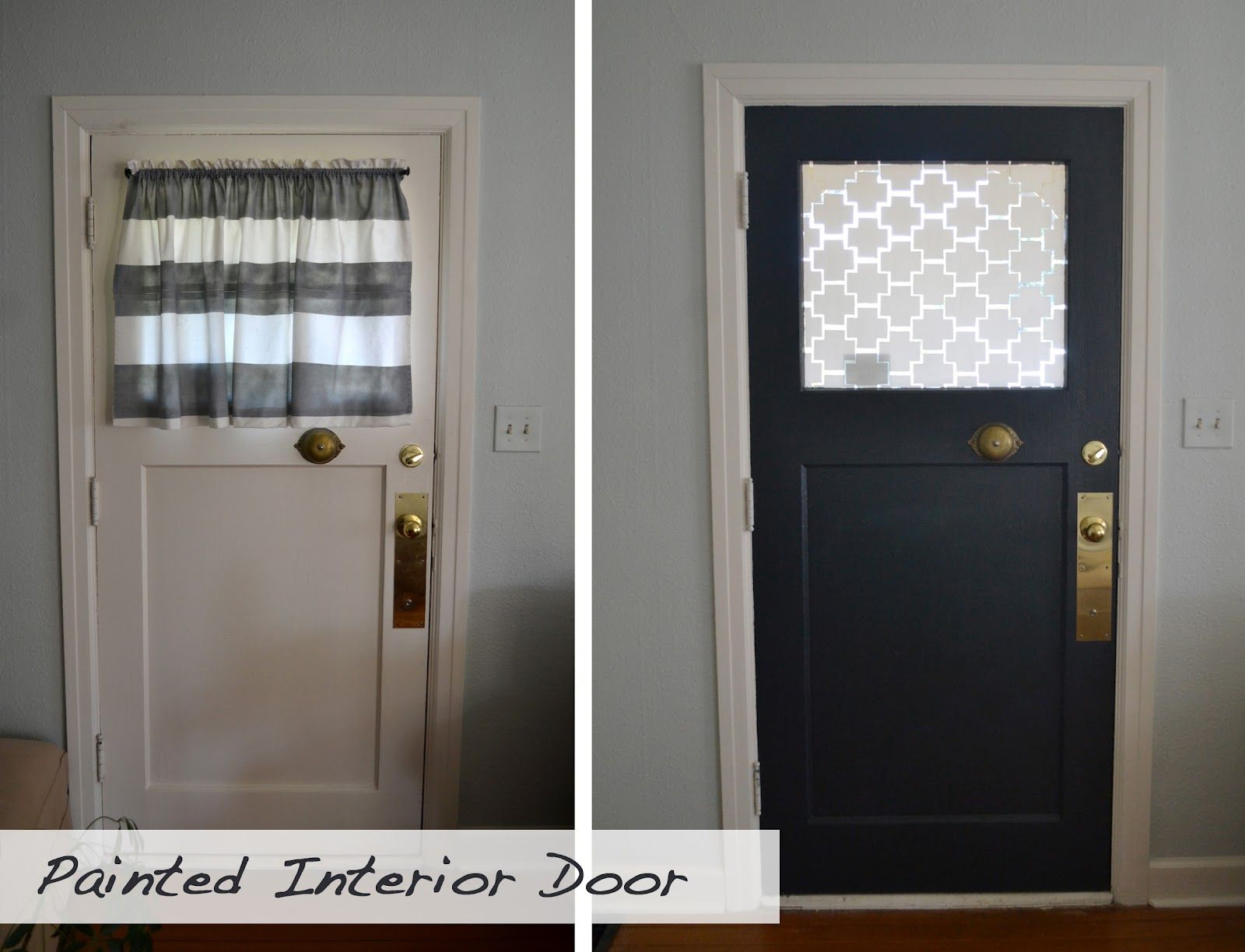 Front Door Makeover: Paint Interior Of Door A Bold Color (or Even Few Shades