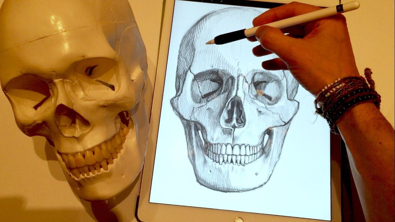 Apple Pencil drawing iPad Pro art tutorial How to draw a