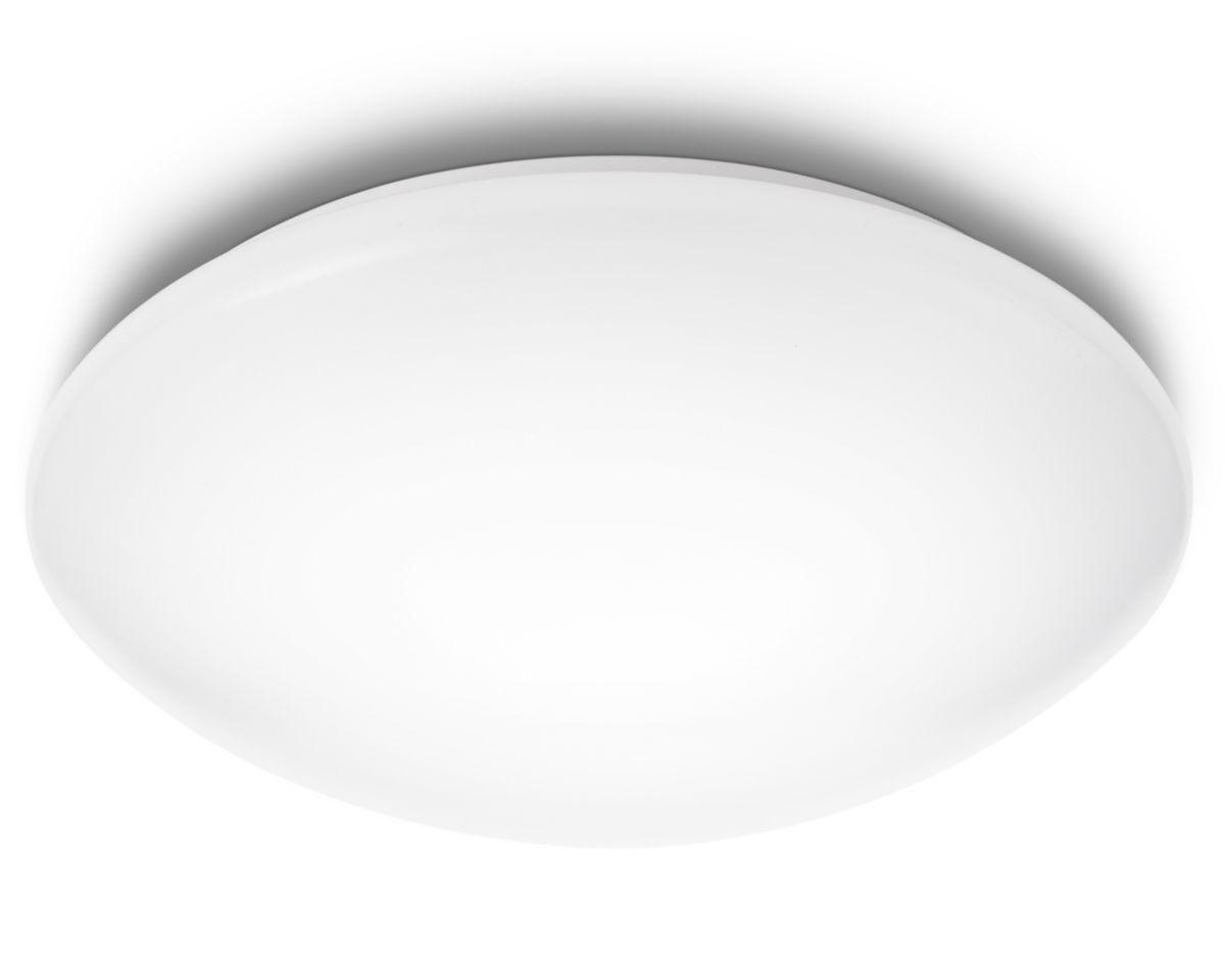 Suede White Led Ceiling Light Null Plafondlamp Led