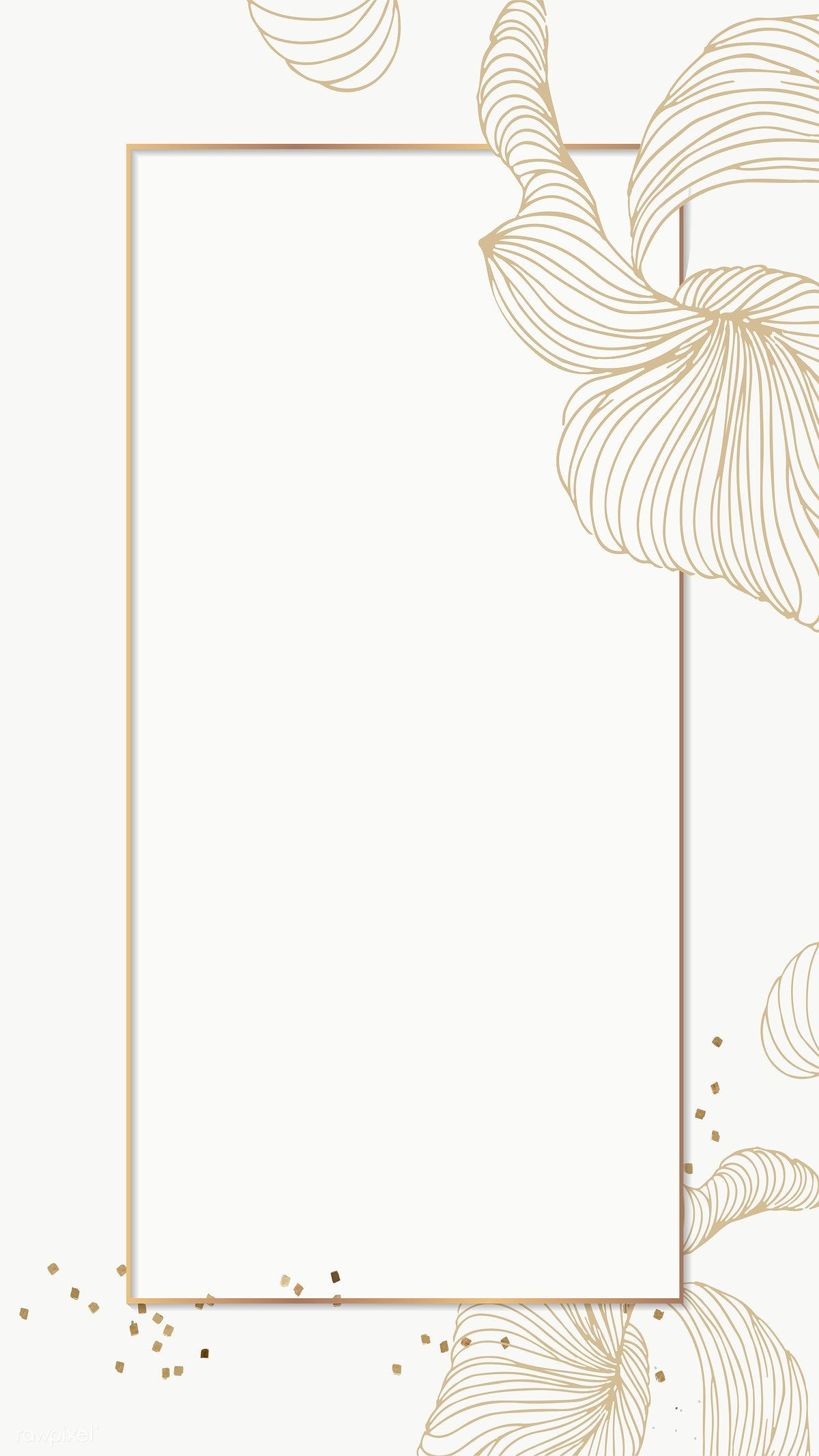 Golden Floral Rectangle Frame Mobile Phone Wallpaper Transparent Png Premium Image By Raw Phone Wallpaper Design Flower Background Wallpaper Framed Wallpaper