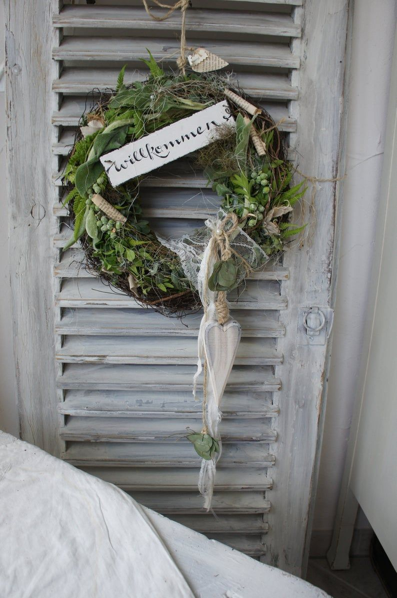 Door wreath Welcome ...