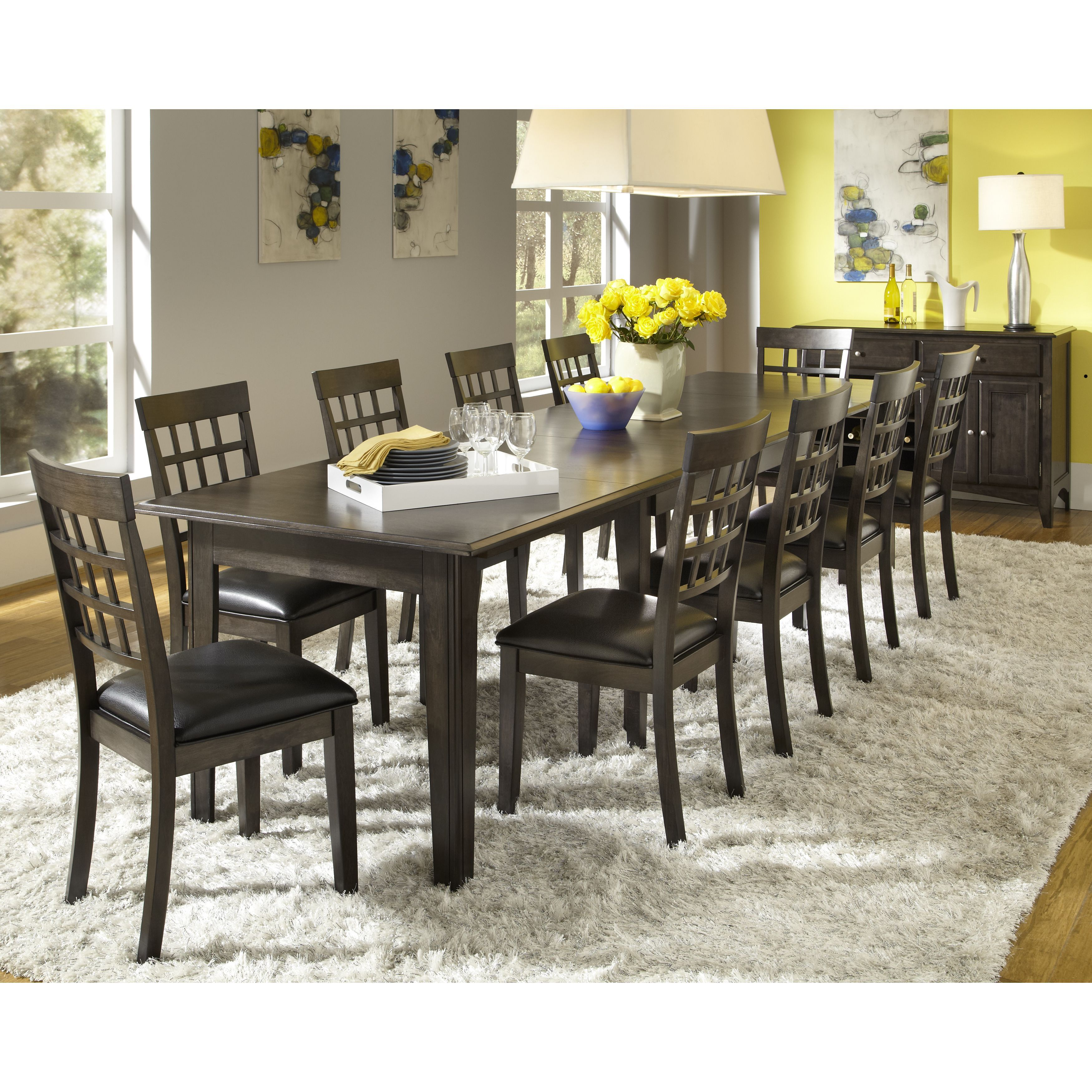 Simply Solid Corina Solid Wood 10Piece Dining Collection Dining Amazing Size Of Dining Room Table For 10 Inspiration