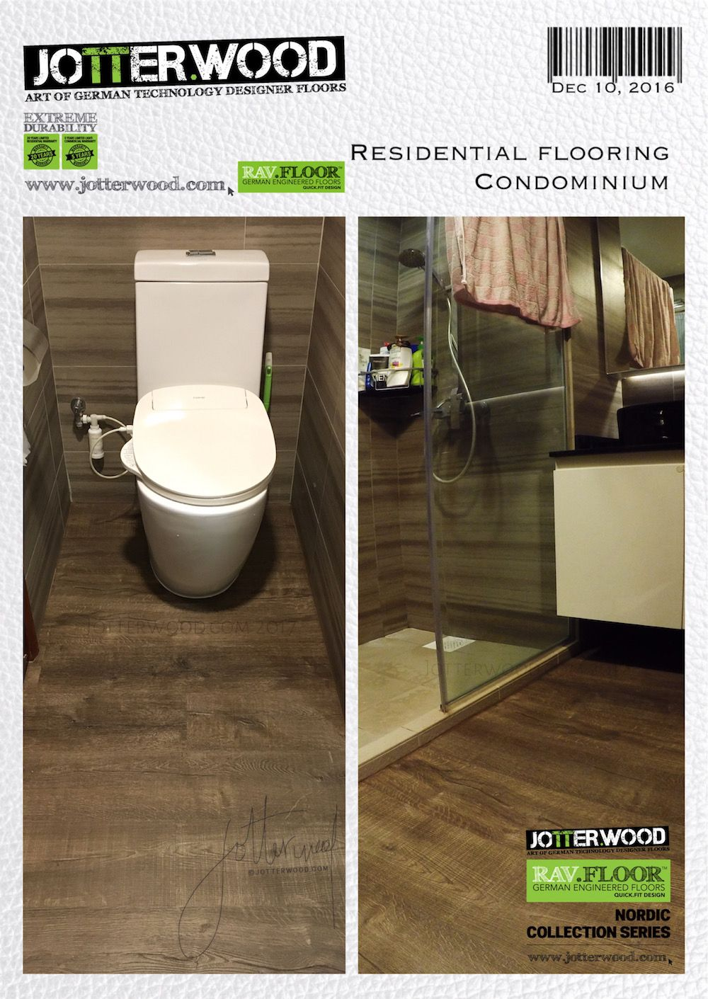 Hotel Like Toilet Flooring Jotterwood Vinyl Flooring Singapore Laminate Flooring Singapore Engin Vinyl Flooring Engineered Wood Floors Residential Flooring