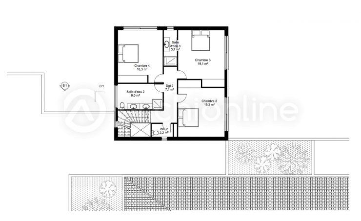 Samui-info - Immobilier - Vente   Koh Samui   Maison-Appartement - plan de maison mitoyenne