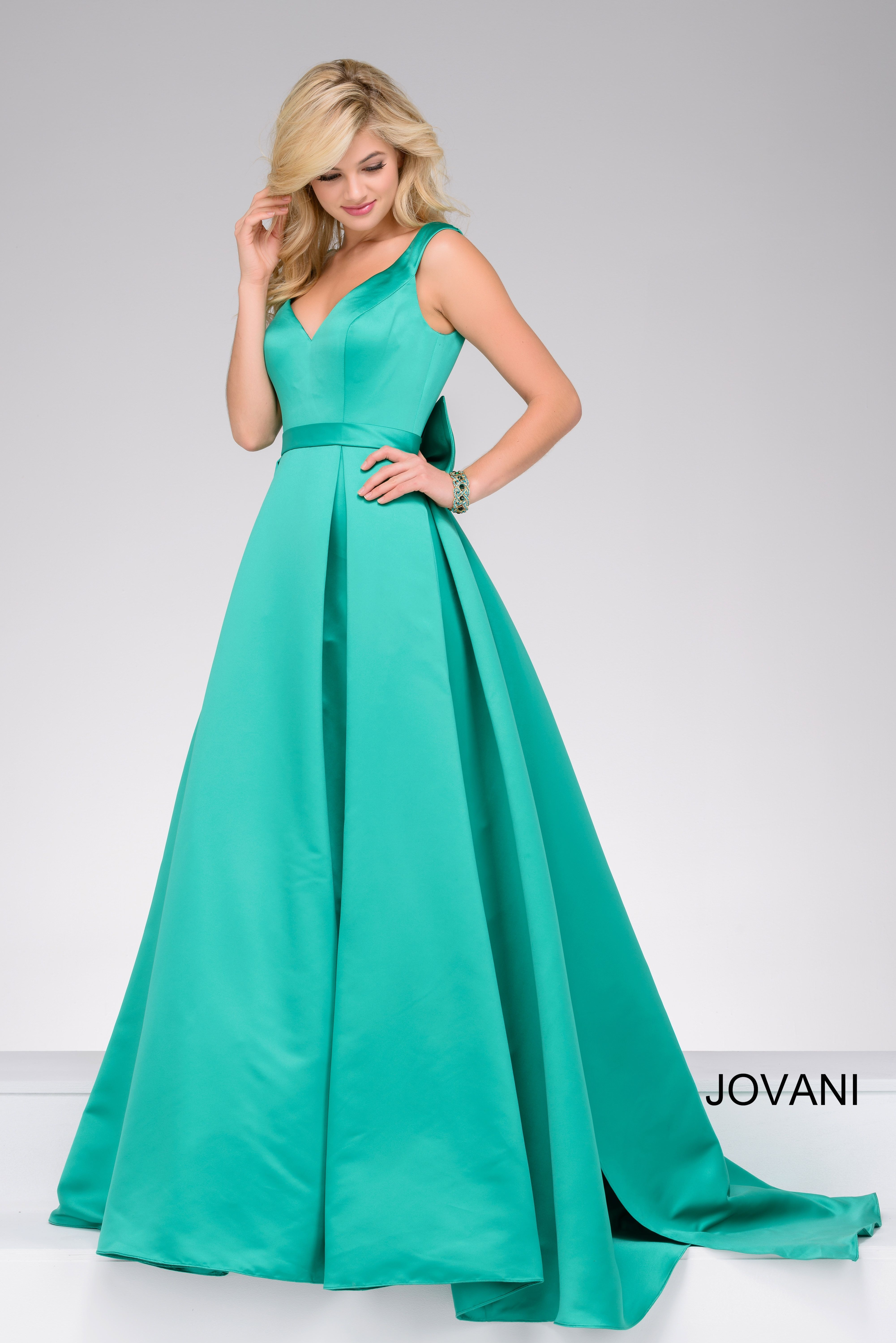 Make them green with envy at prom in Jovani style 45893 available at ...