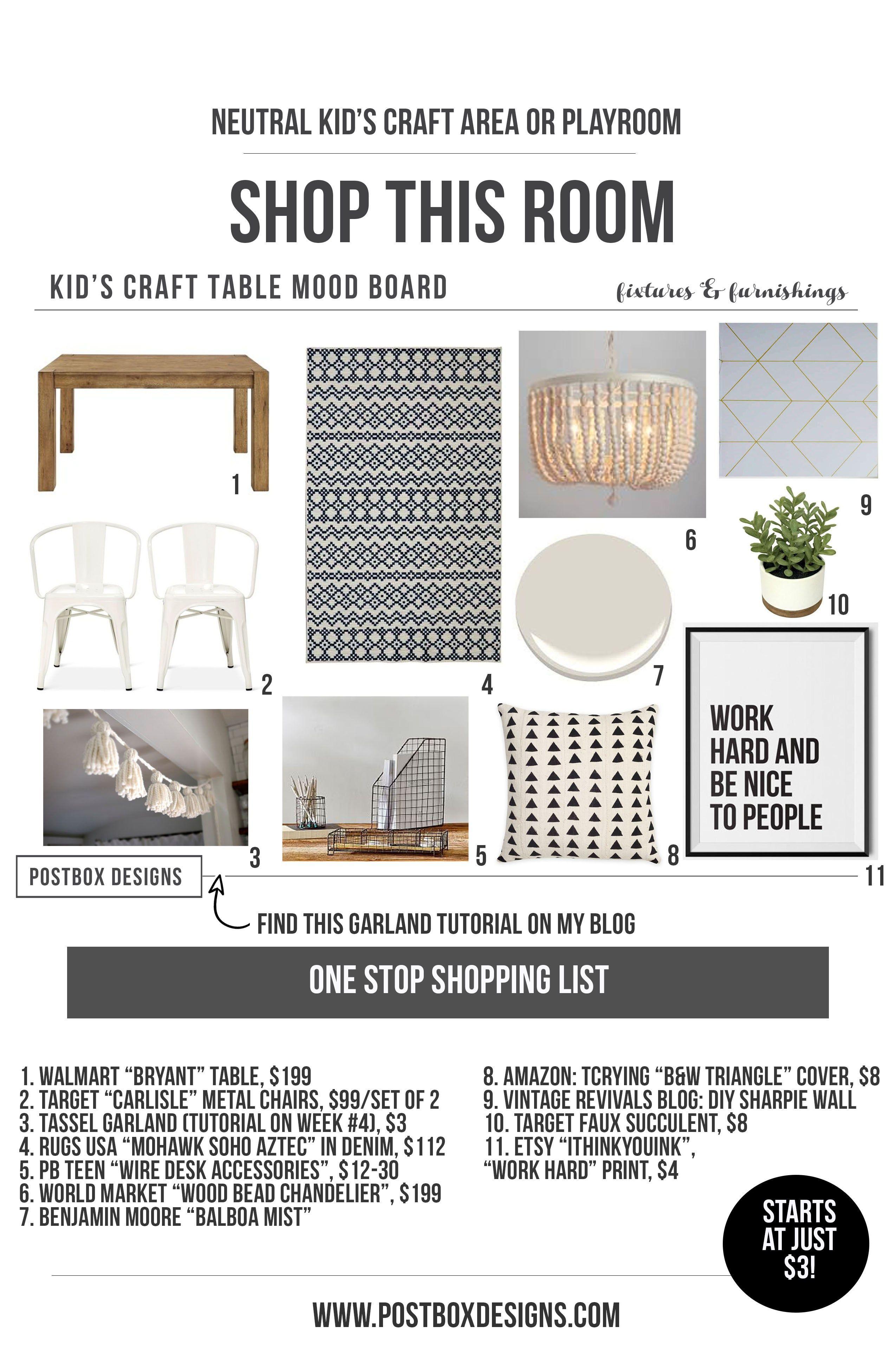 Orc Week 1 Shop My Room Kid Craft Table Printable 2