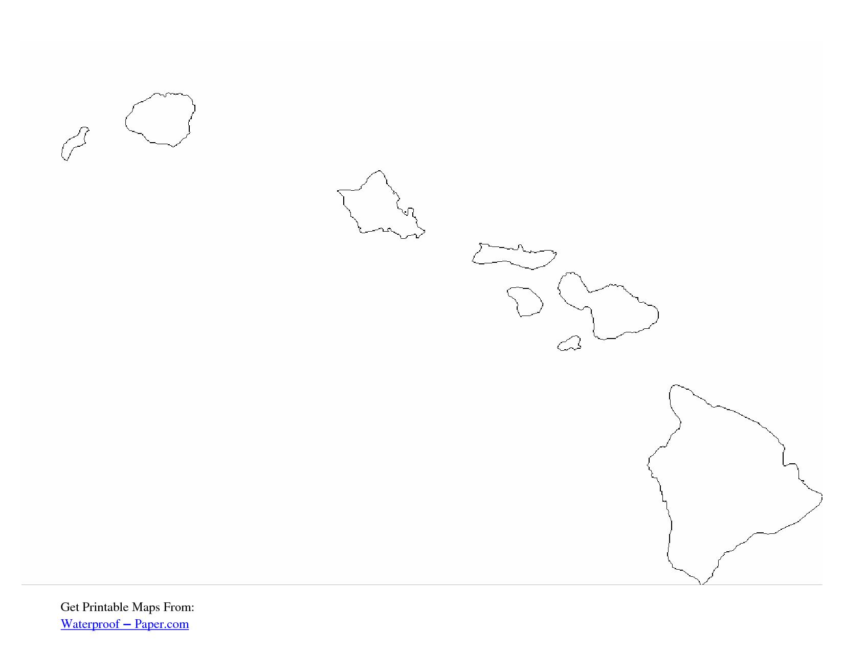 Free Printable Hawaii Outline Map