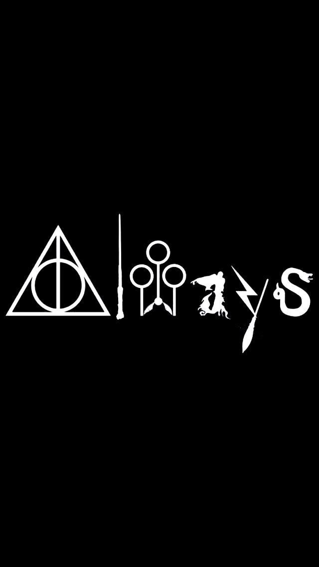 cmi187 always harry potter white vinyl car/laptop/window/wall decal