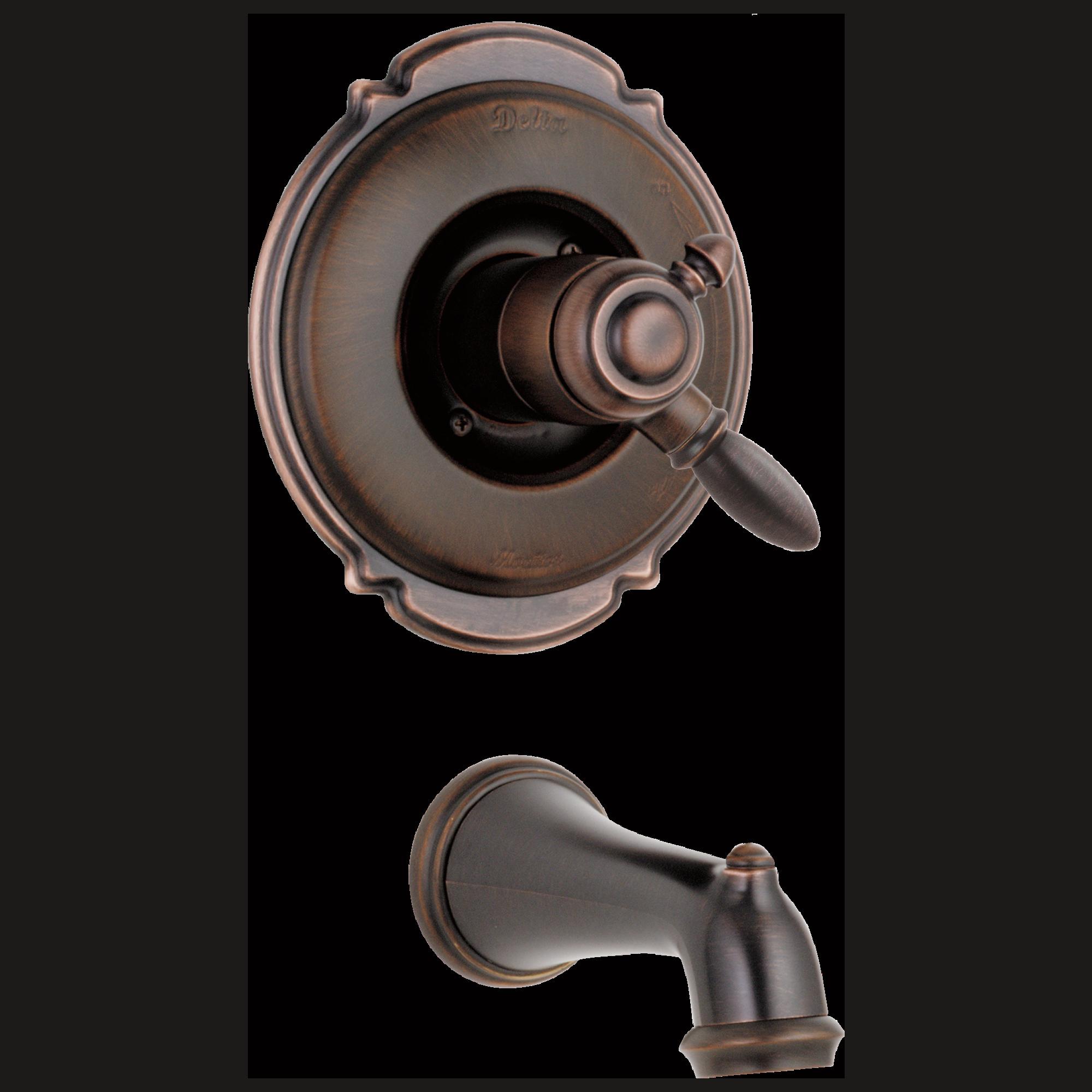 Delta Faucet T17155 Rb Monitor 17 Series Tub Trim Venetian Bronze Faucet Bronze Delta Faucets