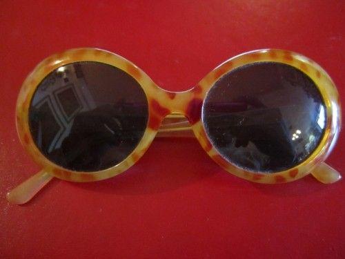 Vintage Retro Sunglasses Large Round Tortoise Shell Hand Finished Eye