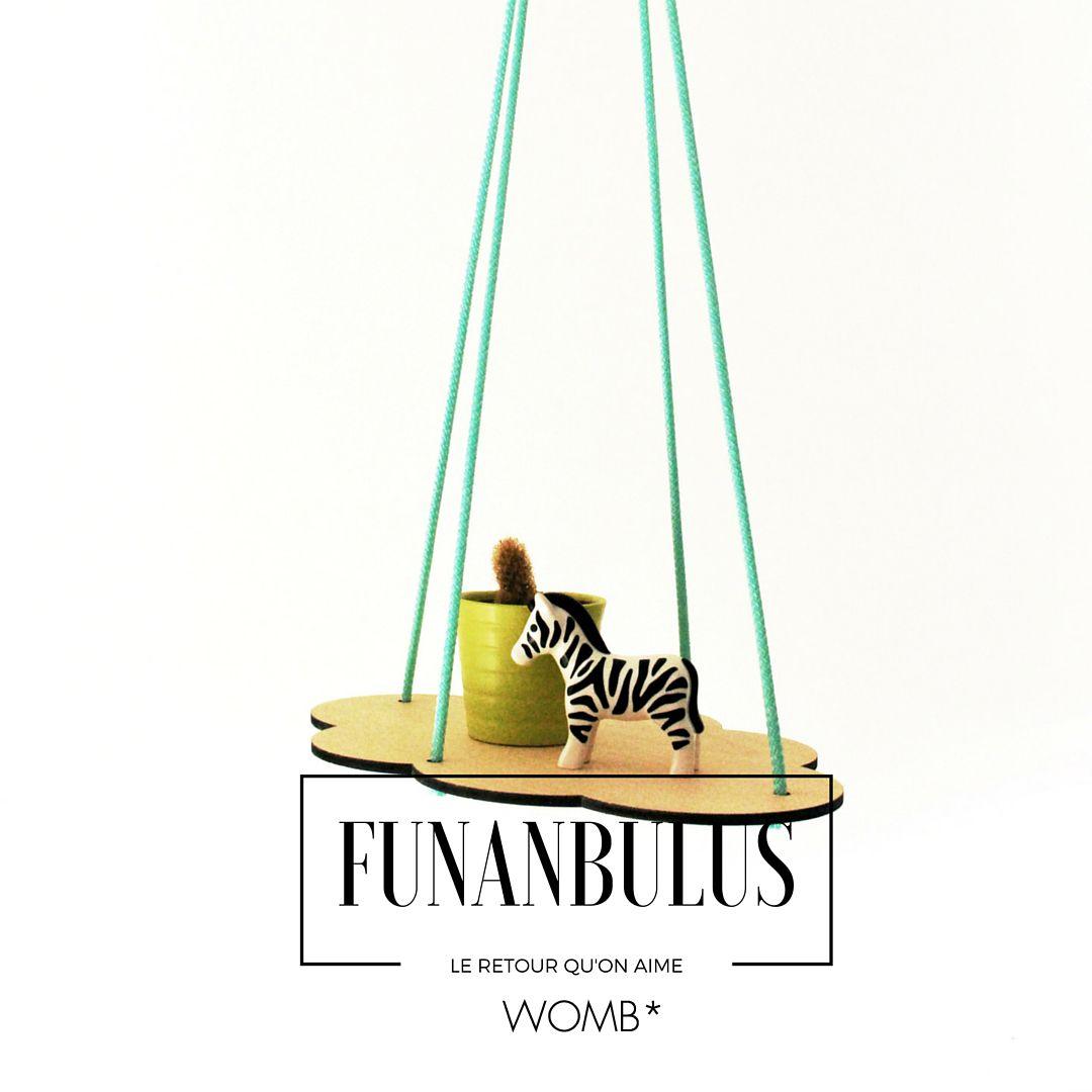 L'accessoire original de la chambre de bébé c'est cette étagère nuage de Funanbulus. http://www.wombconcept.com/fr/etagere-et-bibliotheque/17374-etagere-suspendue-nuage-mint-2110000189730.html