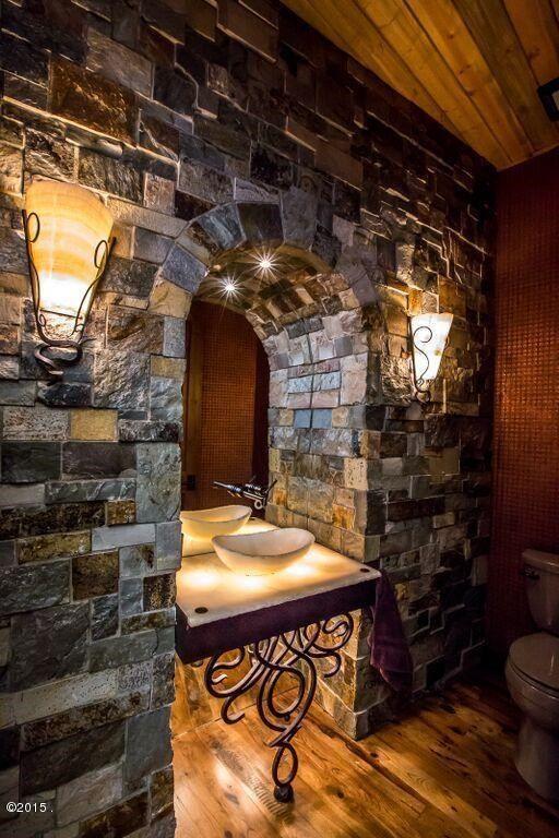 Bathroom of luxury home in Whitefish, Montana