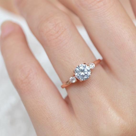 e76a6f78ee white topaz engagement ring, white topaz rings for women, topaz rose ...