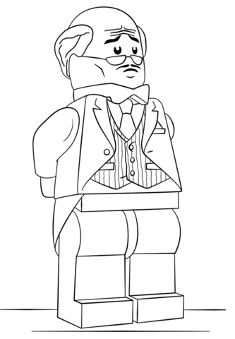 Lego Alfred Pennyworth coloring page from The LEGO Batman