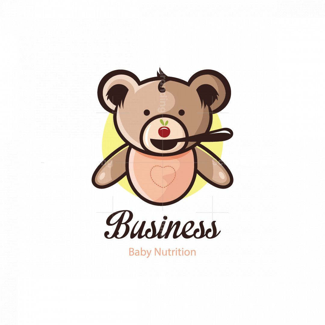 Little Bear Baby Nutrition Symbol Logo