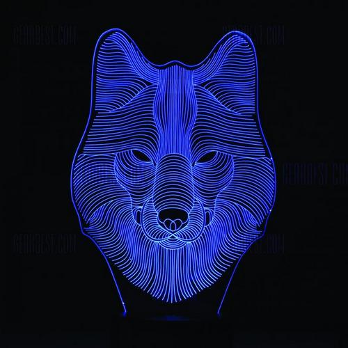 Acrylic Lamp Wolf 3d Illusions 3d Led Night Light Illusions