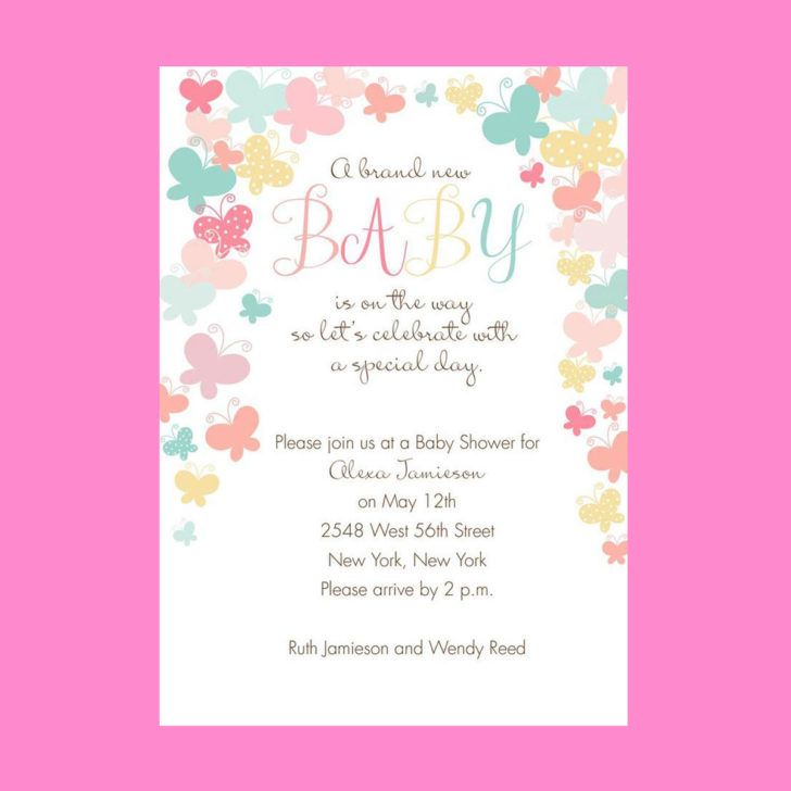 Chic butterfly inspired baby shower invitation butterfly themed baby chic butterfly inspired baby shower invitation butterfly themed baby shower invite sample stopboris Choice Image
