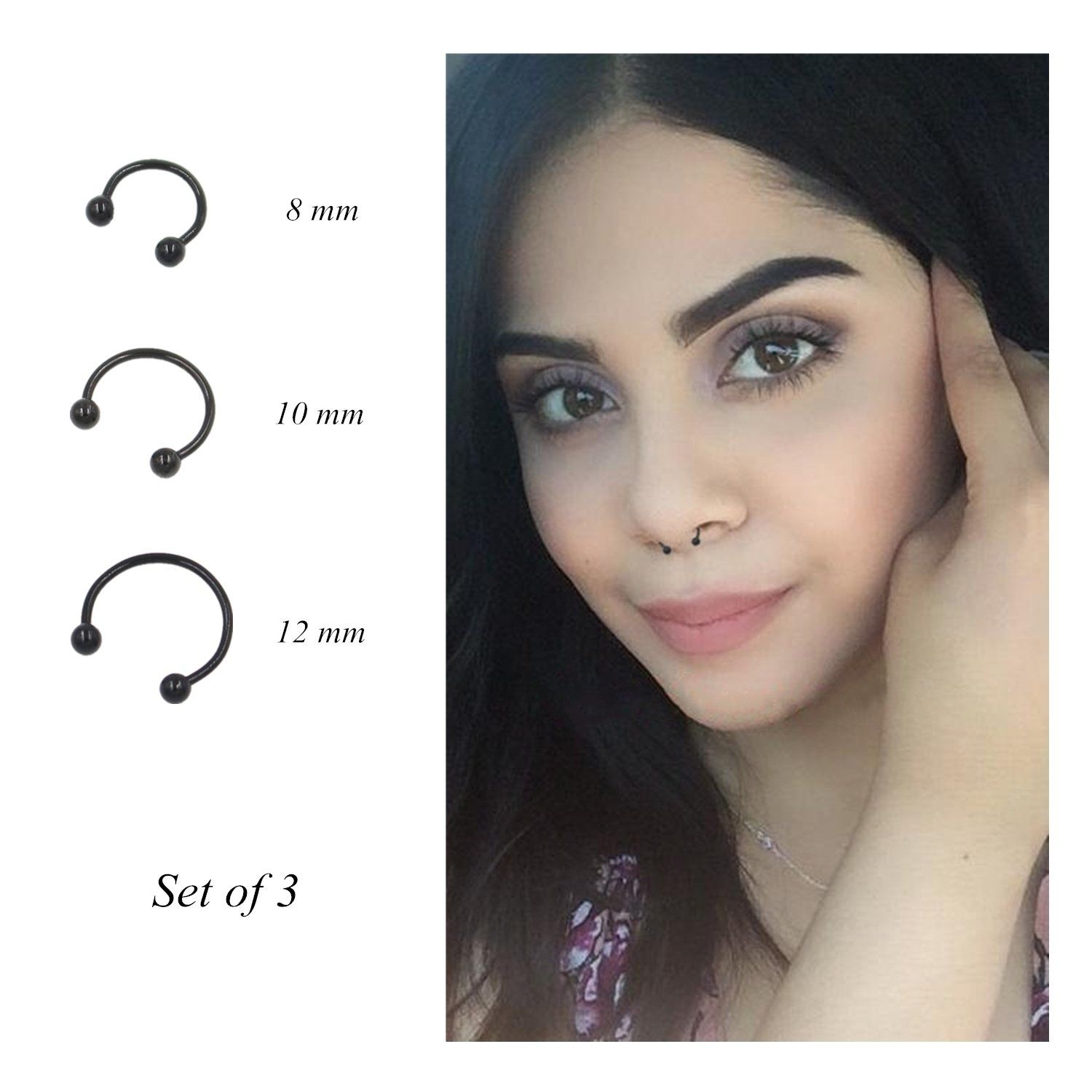 Revolia 18 30pcs 16g 316l Stainless Steel Nose Rings Cartilage Ear