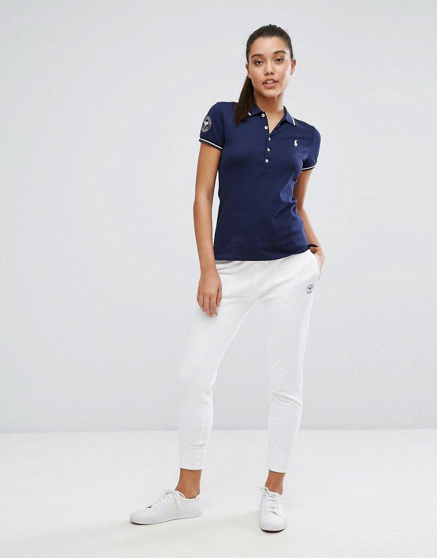 Buy It Now Polo Ralph Lauren X Wimbledon Skinny Jogger White Sweatpants By Polo Ralph Lauren Desi Pantalones De Chandal Pantalon Jogger Mujer Jogger Mujer